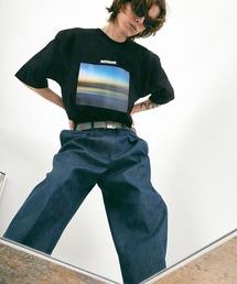 ビッグシルエット コットン天竺 アートデザイン半袖カットソー EMMA CLOTHES 2021SUMMERブラック系その他2