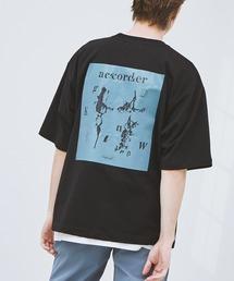 ビッグシルエット コットン天竺 アートデザイン半袖カットソー EMMA CLOTHES 2021SUMMERブラック系その他3