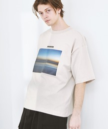 ビッグシルエット コットン天竺 アートデザイン半袖カットソー EMMA CLOTHES 2021SUMMERベージュ系その他3