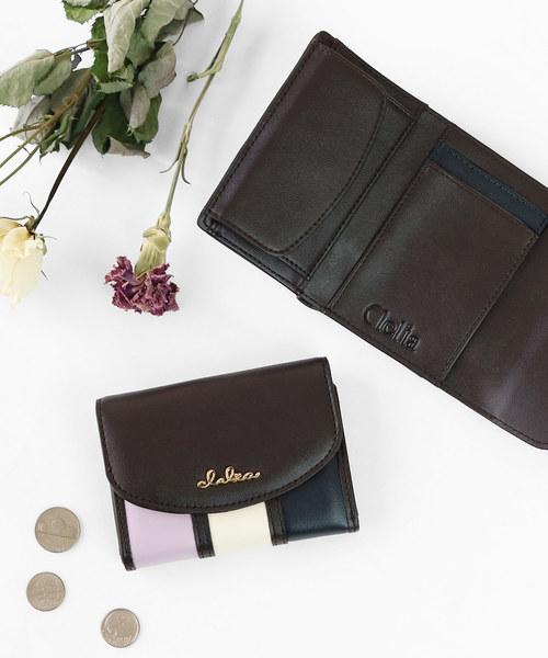[Clelia/クレリア] 三つ折りミニ財布 レディース マルチカラー
