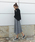 AZUL ENCANTO(アズールエンカント)の「【静電気 軽減効果】タックフレアチェック柄スカート(スカート)」|詳細画像