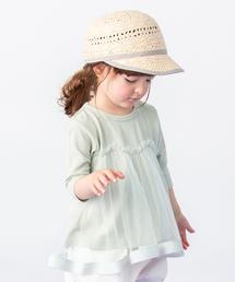petit main(プティマイン)のチュールドッキングTシャツ(Tシャツ/カットソー)