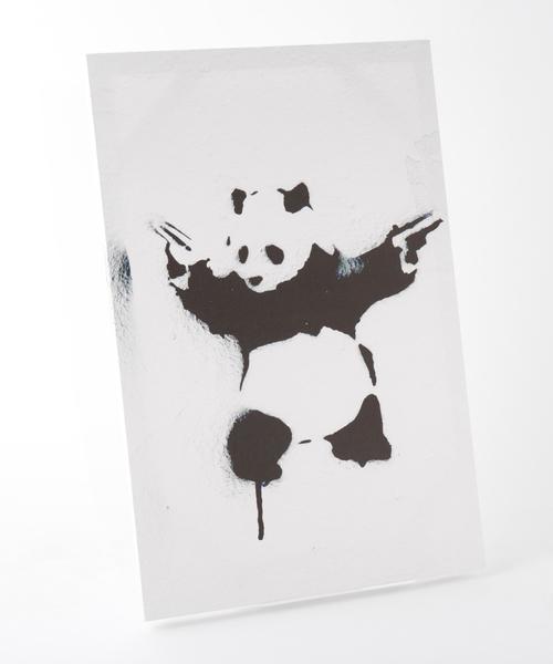 ABBEY MARKET(アビーマーケット)の「バンクシー アートキャンバス(インテリア雑貨)」|ホワイト×ブラック