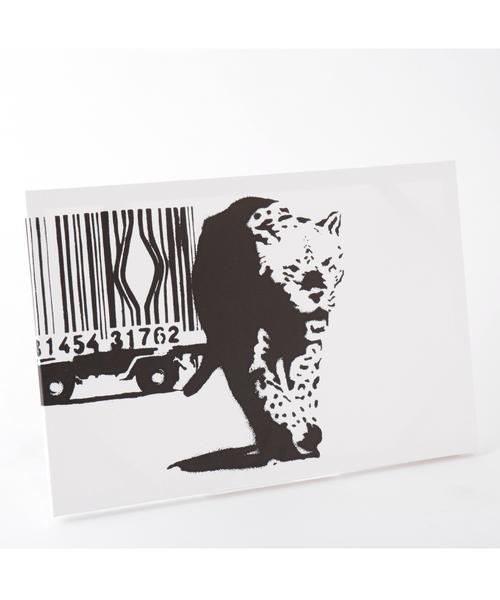 ABBEY MARKET(アビーマーケット)の「バンクシー アートキャンバス(インテリア雑貨)」|ブラック×ホワイト