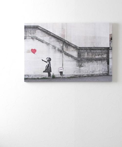 ABBEY MARKET(アビーマーケット)の「バンクシー アートキャンバス(インテリア雑貨)」|グレー