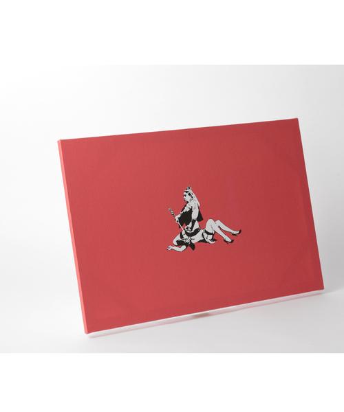 ABBEY MARKET(アビーマーケット)の「バンクシー アートキャンバス(インテリア雑貨)」|レッド