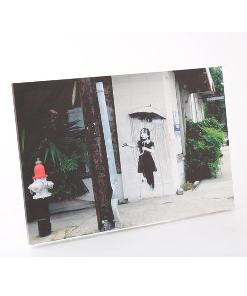 ABBEY MARKET(アビーマーケット)の「バンクシー アートキャンバス(インテリア雑貨)」|ライトブラック