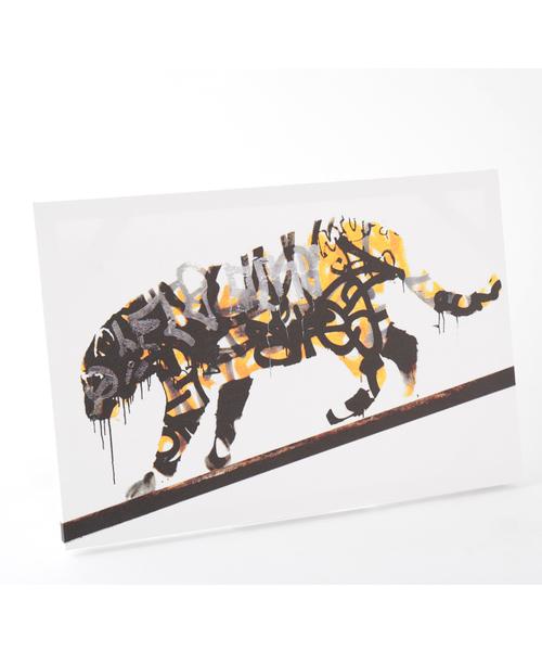 ABBEY MARKET(アビーマーケット)の「バンクシー アートキャンバス(インテリア雑貨)」|イエロー
