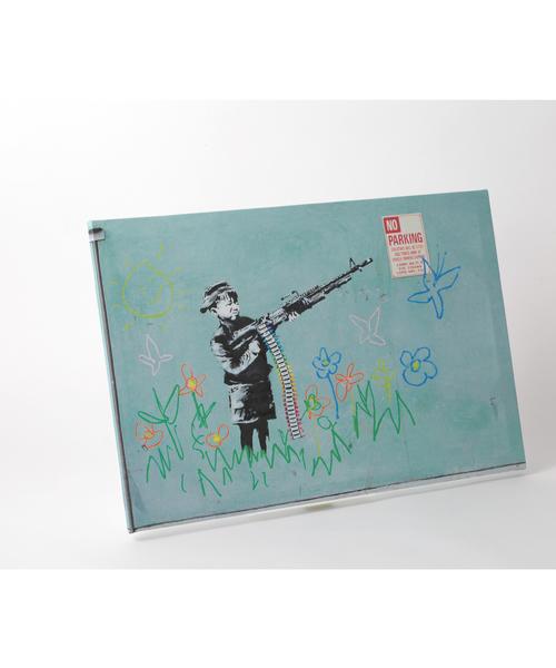 ABBEY MARKET(アビーマーケット)の「バンクシー アートキャンバス(インテリア雑貨)」|ライトグリーン