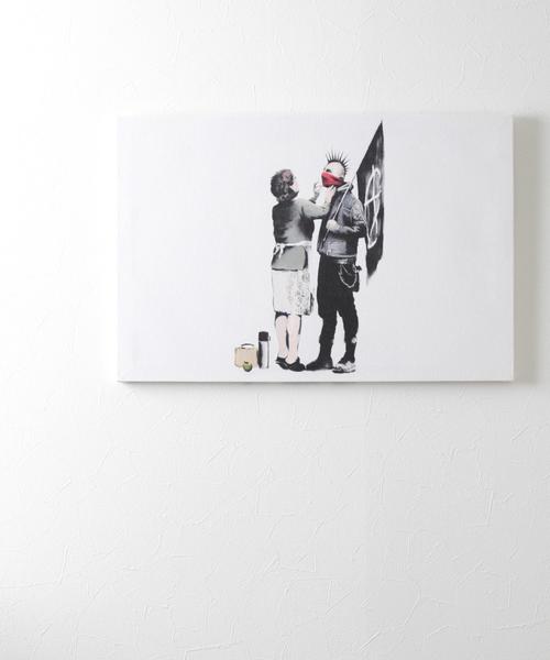 ABBEY MARKET(アビーマーケット)の「バンクシー アートキャンバス(インテリア雑貨)」|ホワイト系その他2