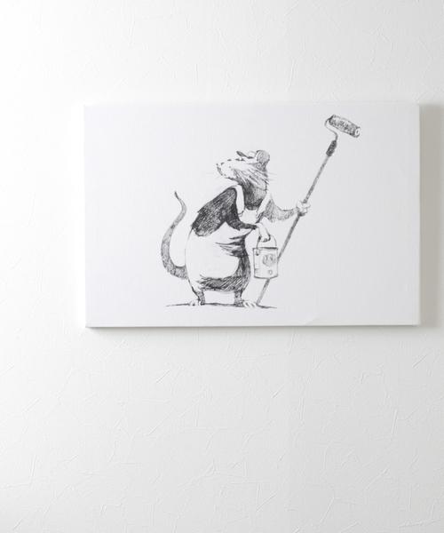 ABBEY MARKET(アビーマーケット)の「バンクシー アートキャンバス(インテリア雑貨)」|ホワイト系その他3