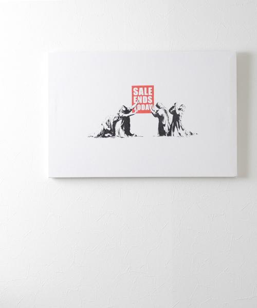 ABBEY MARKET(アビーマーケット)の「バンクシー アートキャンバス(インテリア雑貨)」|ホワイト系その他4