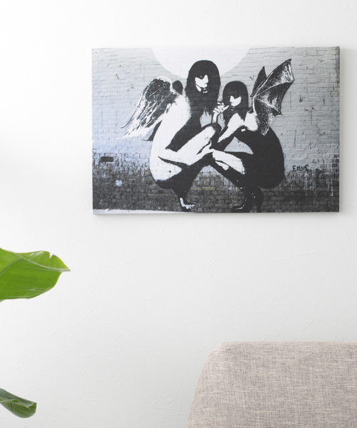 ABBEY MARKET(アビーマーケット)の「バンクシー アートキャンバス(インテリア雑貨)」|ブラック系その他3