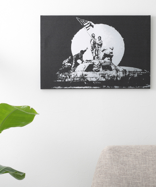 ABBEY MARKET(アビーマーケット)の「バンクシー アートキャンバス(インテリア雑貨)」|ブラック系その他5