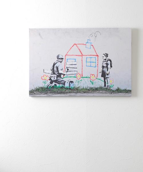 ABBEY MARKET(アビーマーケット)の「バンクシー アートキャンバス(インテリア雑貨)」|グレー系その他2