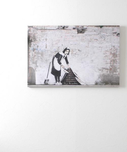 ABBEY MARKET(アビーマーケット)の「バンクシー アートキャンバス(インテリア雑貨)」|グレー系その他5