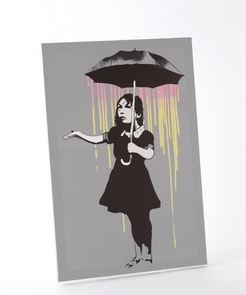 ABBEY MARKET(アビーマーケット)の「バンクシー アートキャンバス(インテリア雑貨)」|シルバーグレー