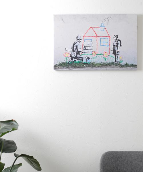ABBEY MARKET(アビーマーケット)の「バンクシー アートキャンバス(インテリア雑貨)」|詳細画像