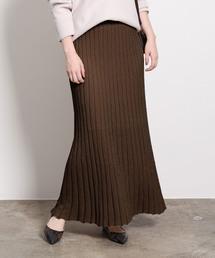 ROPE' mademoiselle(ロペマドモアゼル)のラメニットプリーツスカート(スカート)