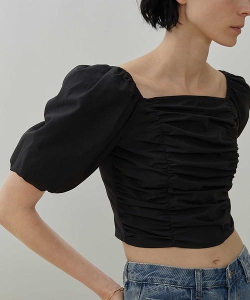 【UNSPOKEN】Gather puff sleeve tops UX20S643