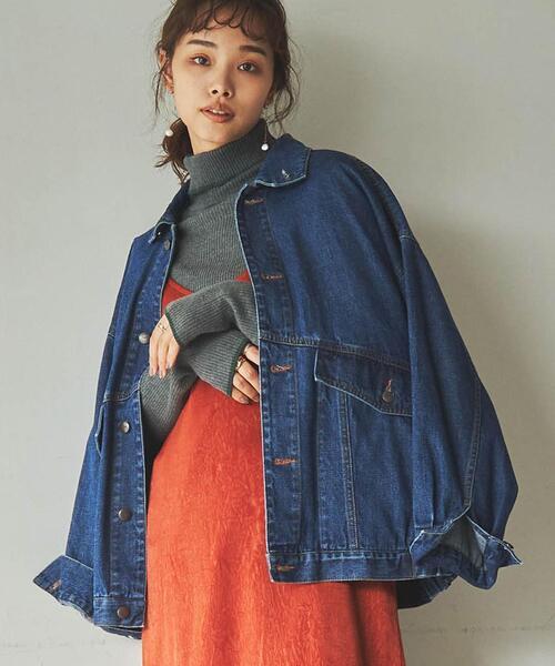 ■プレミアムデニムコレクション■POPデニムジャケット(ネイビー)