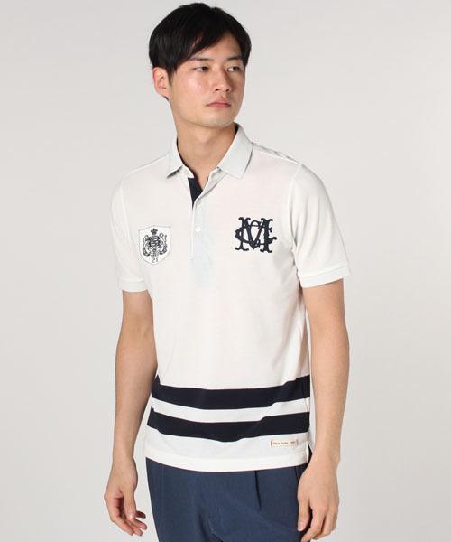 McGREGOR(マックレガー)の「T/Cデコレーション半袖ポロシャツ(ポロシャツ)」|アイボリー
