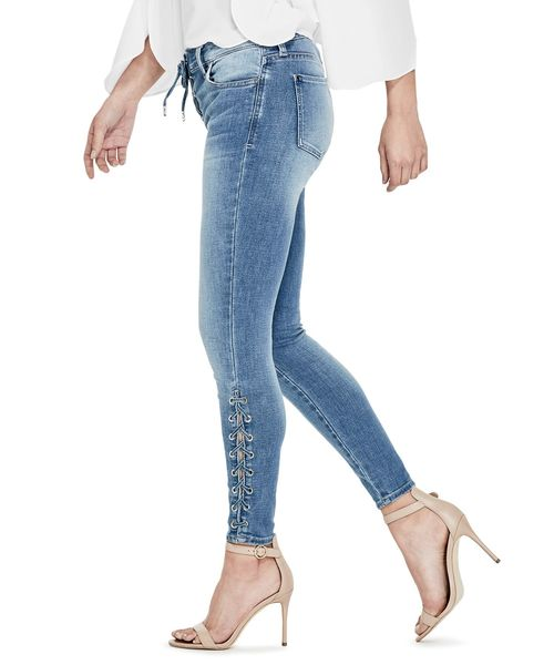 SEXY CURVE LACE-UP SKINNY DENIM PANT
