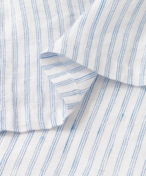 リネン半袖オーバーサイズシャツ
