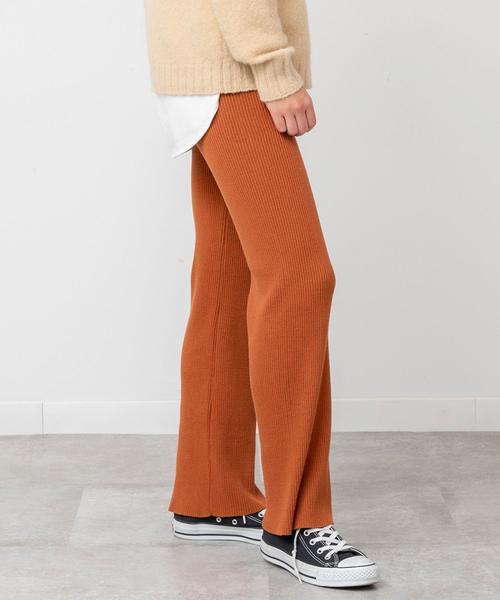 【デオドラント】コットンリブ編みパンツ