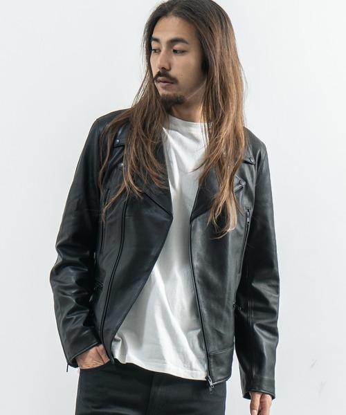 ニュージーランドラムレザー ダブルライダースジャケット