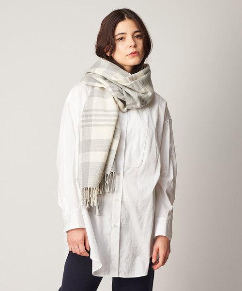 低価格の Bigチェックストール(マフラー Whim/ショール)|Whim Gazette(ウィムガゼット)のファッション通販, パソコンショップ ぱそくる:83364031 --- calligraphyindia.com