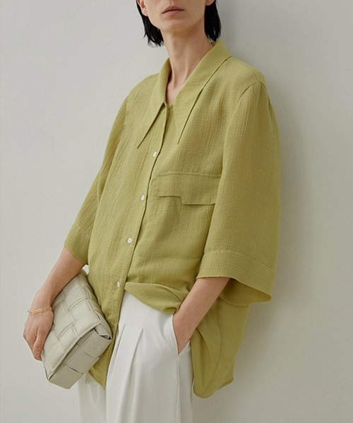 【UNSPOKEN】Loose relaxed shirt UX20S650chw