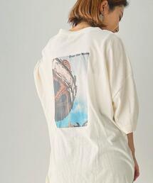 ルージーフォトプリントTシャツ