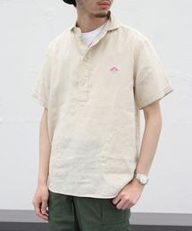 DANTON / ダントン リネンショートスリーブプルオーバーシャツ #JD-3569KLSベージュ