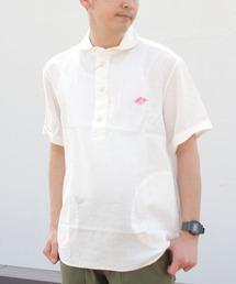 DANTON / ダントン リネンショートスリーブプルオーバーシャツ #JD-3569KLSホワイト