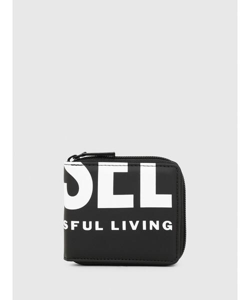 DIESEL(ディーゼル)の「メンズ DIESELロゴ 二つ折り財布(財布)」|ブラック