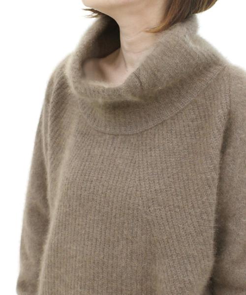 racoon turtle-neck pullover(ふわふわラクーンタートルニット)