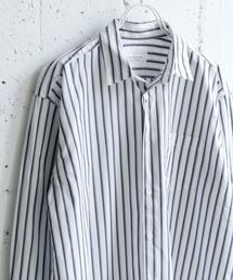 URBAN RESEARCH DOORS(アーバンリサーチドアーズ)のブロードストライプビッグシャツ(シャツ/ブラウス)