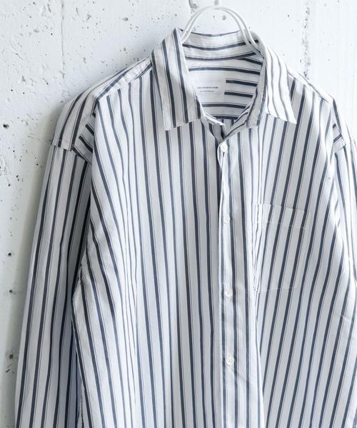URBAN RESEARCH DOORS(アーバンリサーチドアーズ)の「ブロードストライプビッグシャツ(シャツ/ブラウス)」|ホワイト