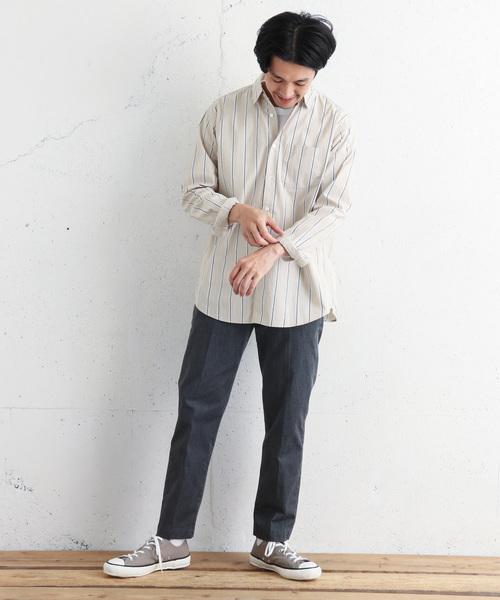 ブロードストライプビッグシャツ