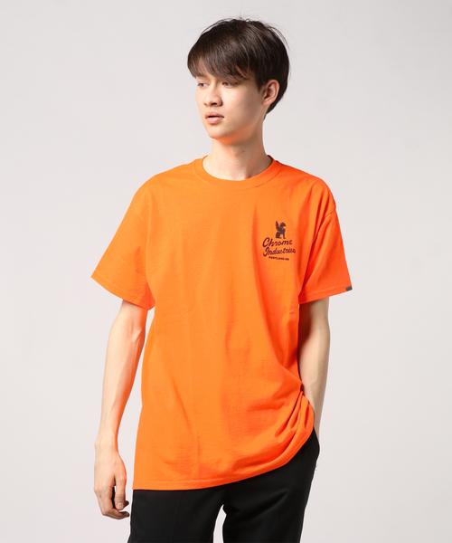 CHROME(クロム)の「7★QT PDX NEON EDTEE / セブンスターズクオリティ ネオン ED ティー(Tシャツ/カットソー)」|オレンジ