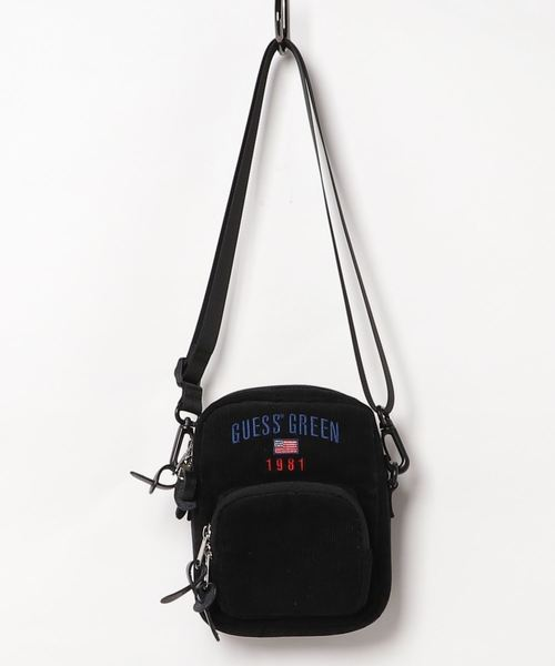 GUESS GREEN LABEL(ゲス グリーン レーベル)の「【GUESS GREEN LABEL】GUESS JNS SHOULDER BAG [AI3W8344IA](ショルダーバッグ)」|ブラック