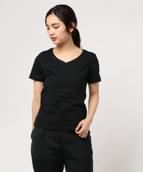 ・オーガニックコットンVネックTシャツ