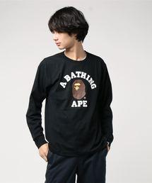A BATHING APE(アベイシングエイプ)のCOLLEGE L/S TEE M(Tシャツ/カットソー)
