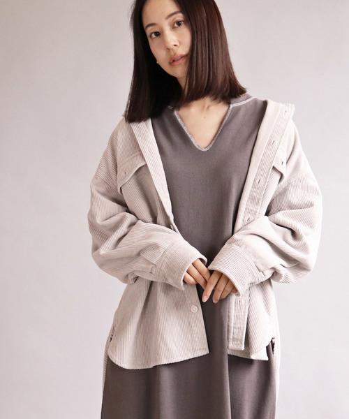 【Allumer/ アリュメール】8Wale Courduroy Big Shirt Jacket