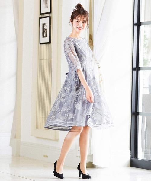 【国内正規品】 刺繍チュールレース 結婚式ワンピース Fashion パーティードレス(ドレス)|Fashion Letter(ファッションレター)のファッション通販, ワールドワン:09cf2e92 --- wiratourjogja.com