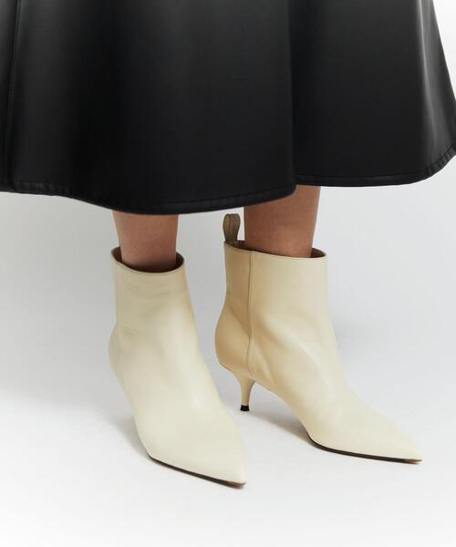 <L'AUTRE CHOSE(ロートル ショーズ)>ポインテッド ショート ブーツ