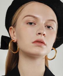 【chuclla】Big hoop earrings cha194ゴールド