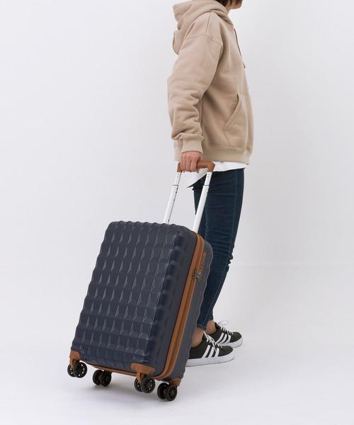 LEGEND WALKER(レジェンドウォーカー)の「軽量/PP素材 ダブルキャスター 1〜2泊用 ファスナー キャリーケース LCC対応 機内持ち込みサイズ(スーツケース/キャリーバッグ)」|ブラック
