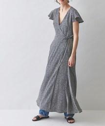 MAISON DE REEFUR(メゾンドリーファー)のフラワー プリント カシュクール ドレス(ワンピース)